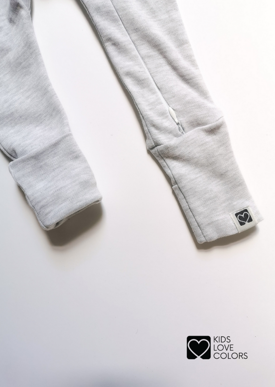 baby pants foot covers gray