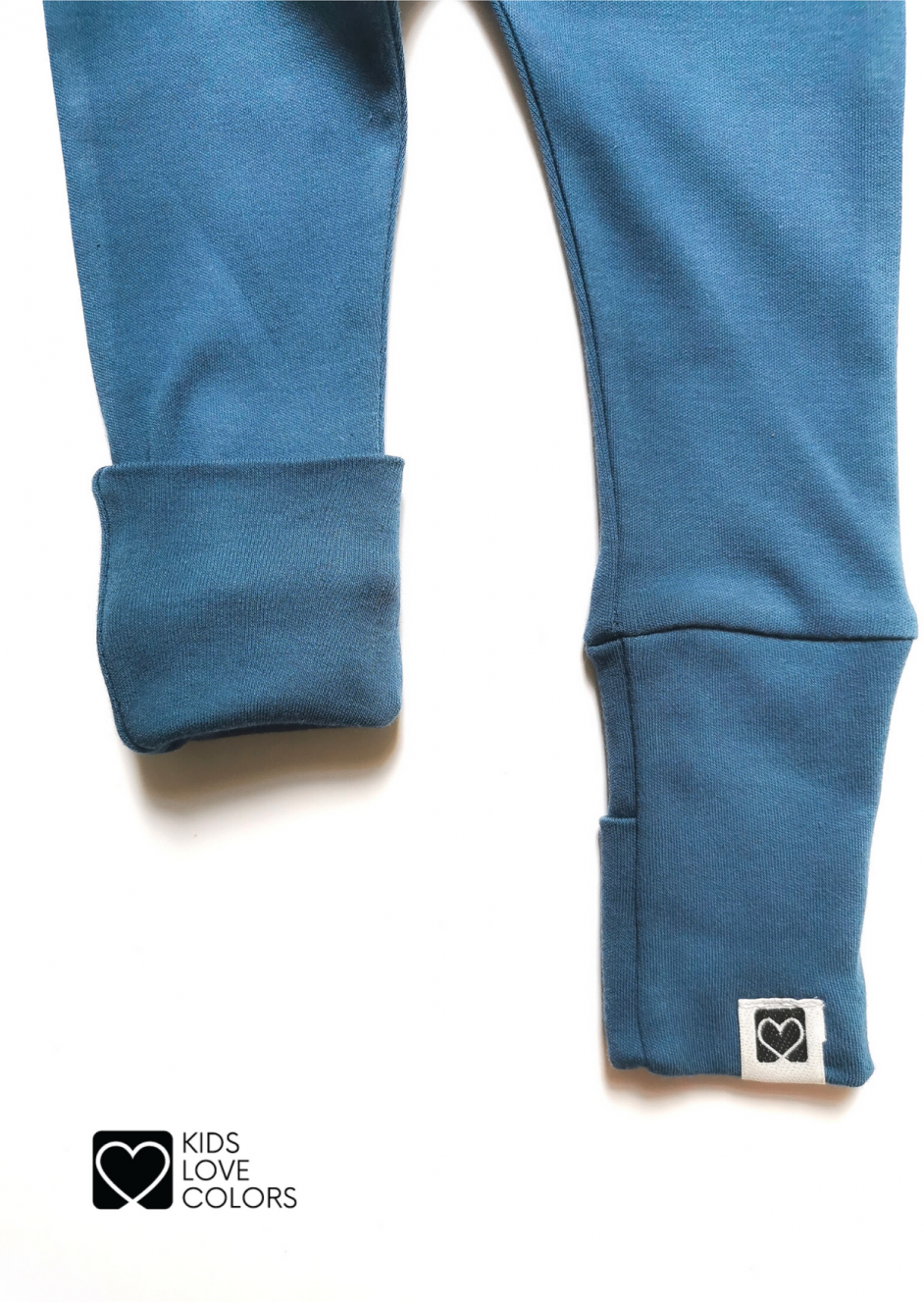 baby pants foot covers blue