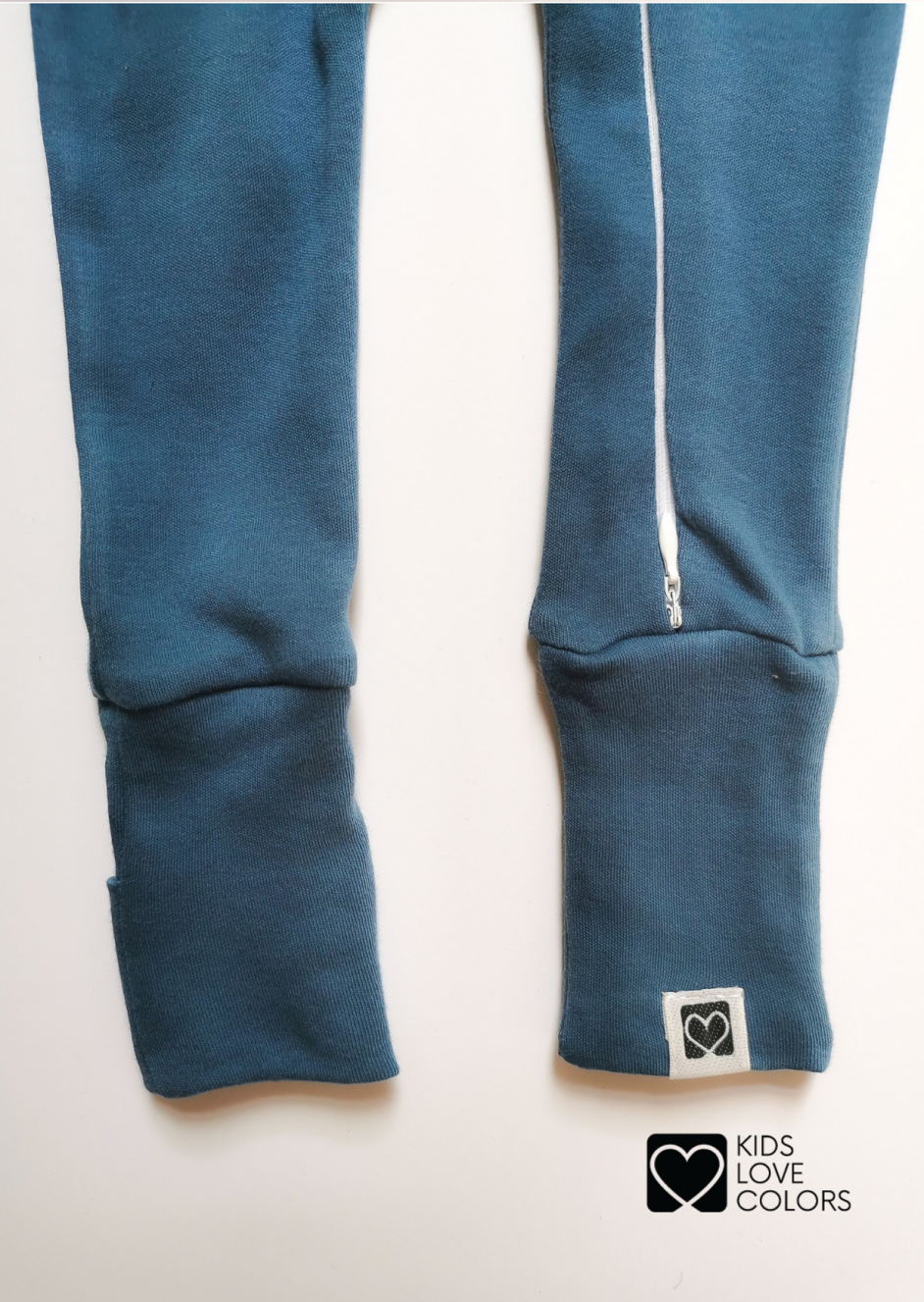 legs for baby pajama blue