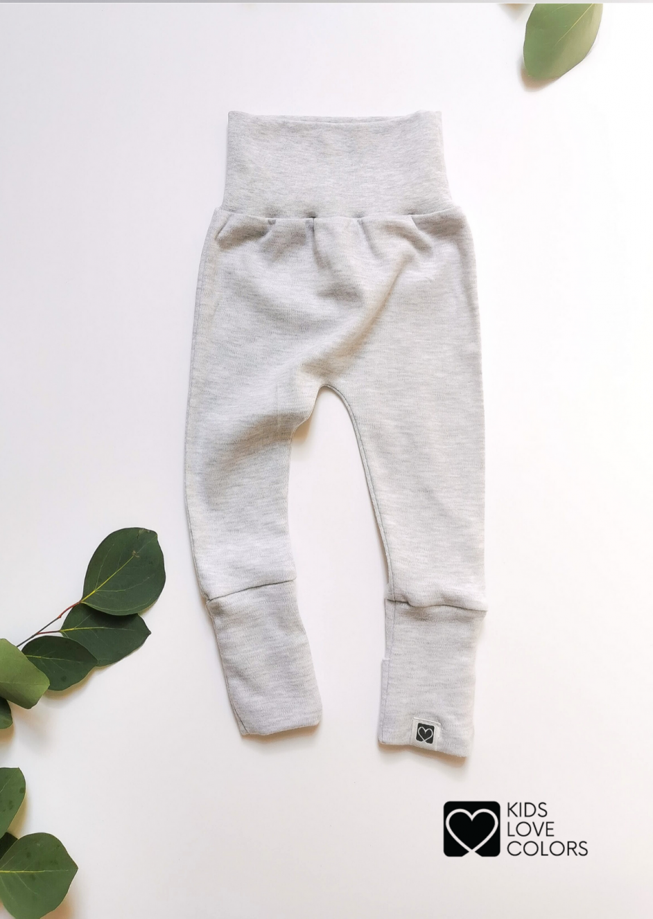 Foot Cover Baby Pants gray