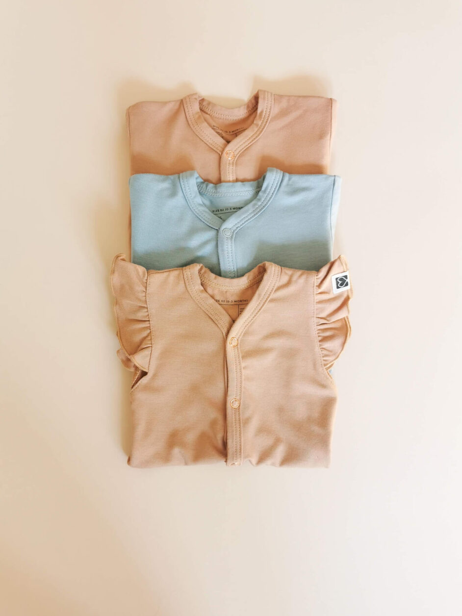 bamboo rompers kids love colors